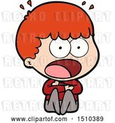 Vector Clip Art of Retro Cartoon Shocked Guy by Lineartestpilot