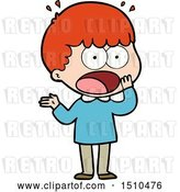 Vector Clip Art of Retro Cartoon Shocked Guy Gasping by Lineartestpilot