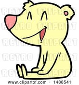 Vector Clip Art of Retro Cartoon Sitting Bear Cartoon by Lineartestpilot