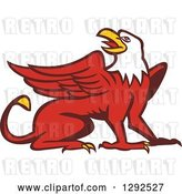 Vector Clip Art of Retro Cartoon Styled Griffin by Patrimonio