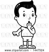 Vector Clip Art of Retro Cartoon Surprised Gasping Boy in Shorts by Cory Thoman
