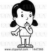 Vector Clip Art of Retro Cartoon Surprised Gasping Girl by Cory Thoman