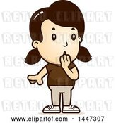 Vector Clip Art of Retro Cartoon Surprised Gasping White Girl by Cory Thoman