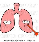 Vector Clip Art of Retro Cartoon Unhealthy Lungs by Lineartestpilot