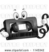 Vector Clip Art of Retro Cartoon VHS Tape Mascot by BNP Design Studio