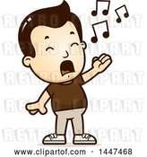 Vector Clip Art of Retro Cartoon White Boy Singing by Cory Thoman