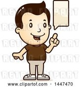 Vector Clip Art of Retro Cartoon White Boy Talking by Cory Thoman