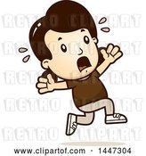 Vector Clip Art of Retro Cartoon White Girl Running Scared by Cory Thoman