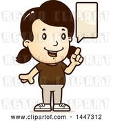 Vector Clip Art of Retro Cartoon White Girl Talking by Cory Thoman