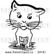 Vector Clip Art of Retro Cat by Prawny Vintage
