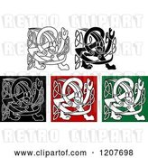 Vector Clip Art of Retro Celtic Griffin Knot Designs by Vector Tradition SM