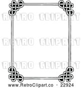 Vector Clip Art of Retro Celtic Styled Frame by Prawny Vintage