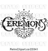 Vector Clip Art of Retro Ceremony Sign with an Art Deco Design by Prawny Vintage