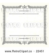 Vector Clip Art of Retro Certificate Border by BestVector