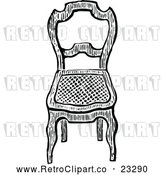 Vector Clip Art of Retro Chair by Prawny Vintage