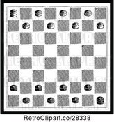 Vector Clip Art of Retro Checkers Game Board by Prawny Vintage