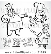 August 18th, 2017: Vector Clip Art of Retro Chefs by BestVector
