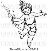 Vector Clip Art of Retro Child Dancing by Prawny Vintage