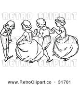 Vector Clip Art of Retro Children Dancing 2 by Prawny Vintage