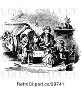 Vector Clip Art of Retro Children Having a Tea Party by Prawny Vintage