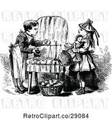 Vector Clip Art of Retro Children Playing Merchant by Prawny Vintage