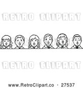 Vector Clip Art of Retro Children Singing by Prawny Vintage