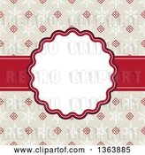 Vector Clip Art of Retro Christmas Frame with Snowflakes and Text Space by Vectorace