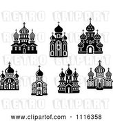Vector Clip Art of Retro Church Buildings by Vector Tradition SM