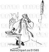 Vector Clip Art of Retro Clergyman by Prawny Vintage