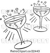 Vector Clip Art of Retro Cocktail Glasses by BestVector