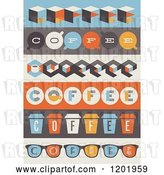 Vector Clip Art of Retro Coffee Borders by Elena