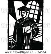 Vector Clip Art of Retro College Professor by Prawny Vintage