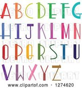 Vector Clip Art of Retro Colorful Capital Alphabet Letters by Prawny