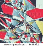 Vector Clip Art of Retro Colorful Low Poly Geometric Background by KJ Pargeter