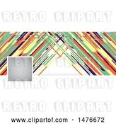 Vector Clip Art of Retro Colorful Social Media Cover Banner Design Element by KJ Pargeter