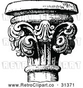 May 4th, 2018: Vector Clip Art of Retro Column by Prawny Vintage