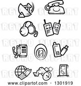 Vector Clip Art of Retro Communications Icons by Vector Tradition SM