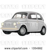 Vector Clip Art of Retro Compact Gray Car by Vectorace