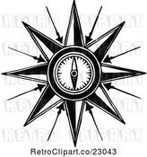 Vector Clip Art of Retro Compass by Prawny Vintage