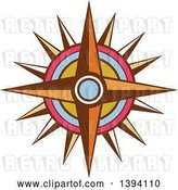 Vector Clip Art of Retro Compass Rose by Patrimonio