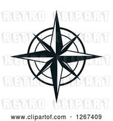 Vector Clip Art of Retro Compass Rose by Vector Tradition SM