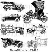 Vector Clip Art of Retro Convertible Cars by BestVector