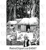 Vector Clip Art of Retro Costa Rican Forest Village by Prawny Vintage