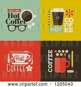 Vector Clip Art of Retro Cot Coffee Designs by Elena