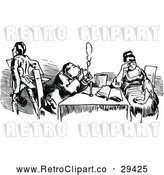 Vector Clip Art of Retro Couple Dining 3 by Prawny Vintage