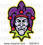 Vector Clip Art of Retro Court Jester Face by Patrimonio