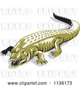Vector Clip Art of Retro Crocodile 1 by Patrimonio