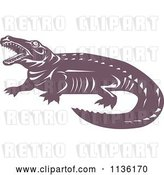 Vector Clip Art of Retro Crocodile 2 by Patrimonio
