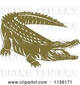 Vector Clip Art of Retro Crocodile 3 by Patrimonio