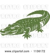 Vector Clip Art of Retro Crocodile 4 by Patrimonio
